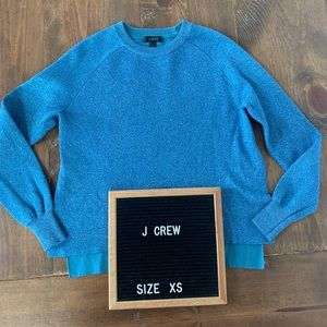 J. Crew Blue Sparkle Side Slit Sweater